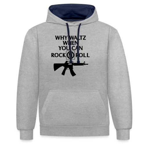 lost boys why waltz - Contrast Colour Hoodie