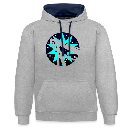 Starry Sky Ripper - Contrast Colour Hoodie