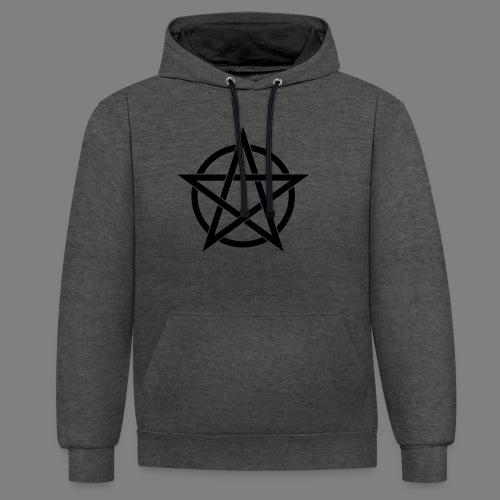 pentagramm - Kontrast-Hoodie
