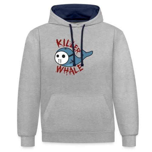 Killer Whale - Kontrast-Hoodie