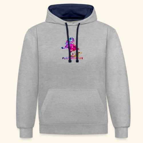 Play with Fun and Win the Championship - Kontrast-Hoodie