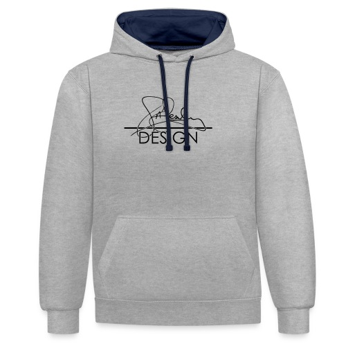sasealey design logo png - Contrast Colour Hoodie