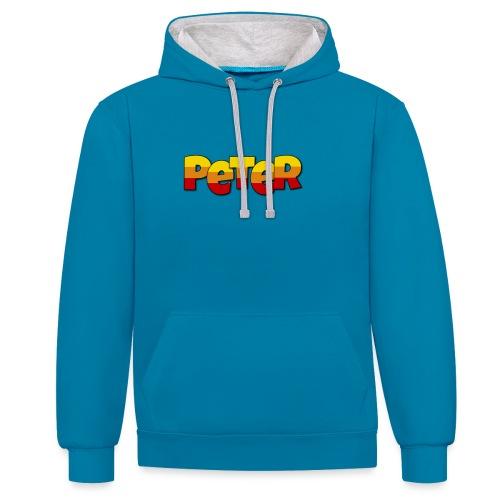 Peter LETTERS - Contrast hoodie
