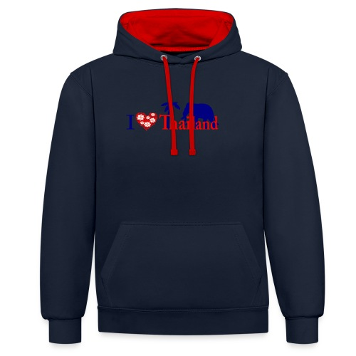I love Thailand - Contrast Colour Hoodie
