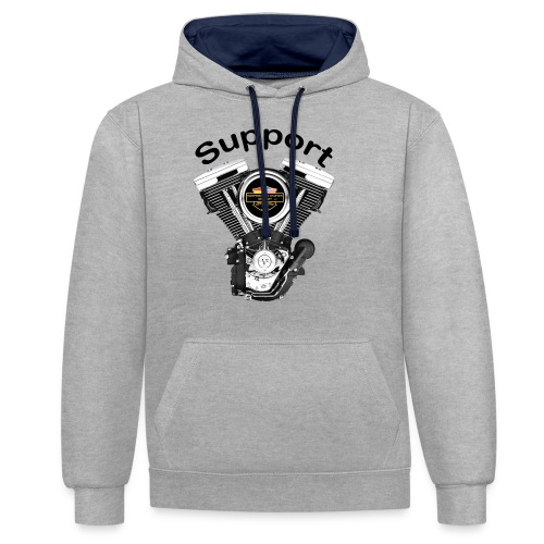 Support Indis bunt evolution engine - Kontrast-Hoodie