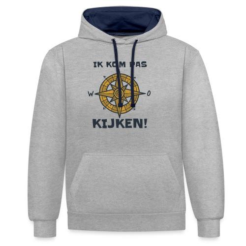 ik kompas kijken - Contrast hoodie
