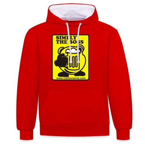 Simply the Boss - Contrast Colour Hoodie