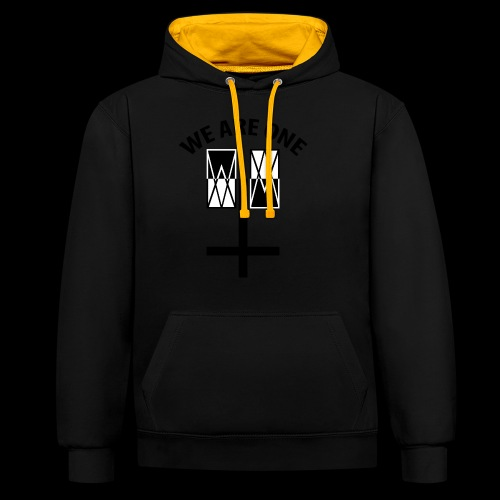 WE ARE ONE x CROSS - Contrast hoodie