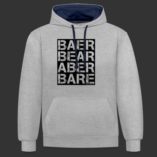 BEAR BARE is your own fun - Kontrast-Hoodie