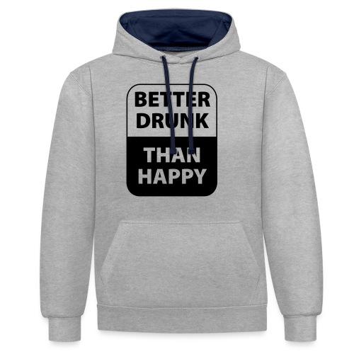 mieux ivre qu'heureux - Sweat-shirt contraste