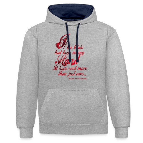 More than Ears Quotation - Contrast Colour Hoodie