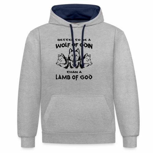 Wolf of Odin - Sudadera con capucha en contraste