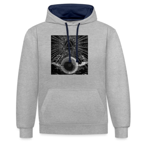 T-Shirt ALCHIMIA - Felpa con cappuccio bicromatica