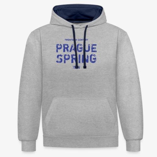 Prague Spring - Felpa con cappuccio bicromatica