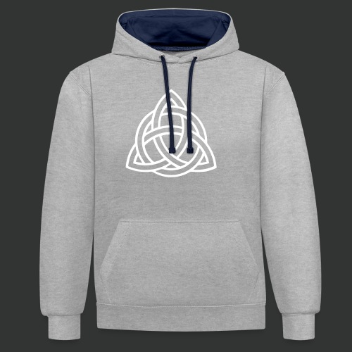 Celtic Knot — Celtic Circle - Contrast Colour Hoodie