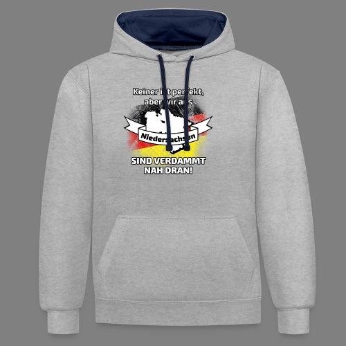 Perfekt Niedersachsen - Kontrast-Hoodie
