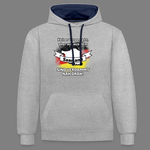 Perfekt Saarland - Kontrast-Hoodie