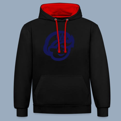 logo bb spreadshirt bb kopfonly - Contrast Colour Hoodie