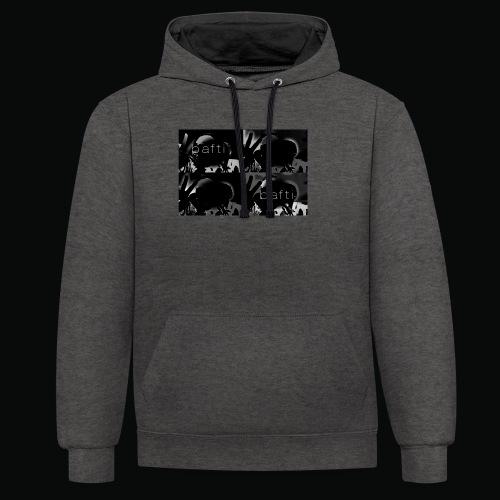 black bafti crew - Kontrast-hættetrøje