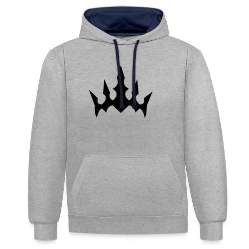 Black Crown - Kontrast-hættetrøje