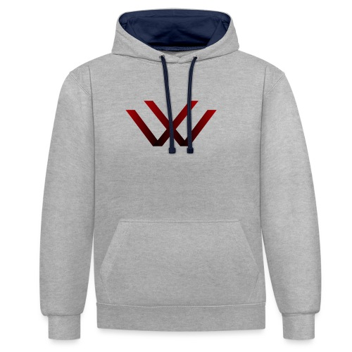 English walaker design - Contrast Colour Hoodie