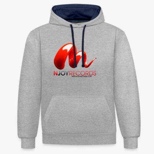 Logo Njoy Records Noir - Sweat-shirt contraste