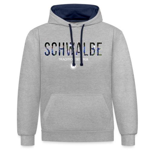 Schwalbe seit 1928 - Kontrast-Hoodie