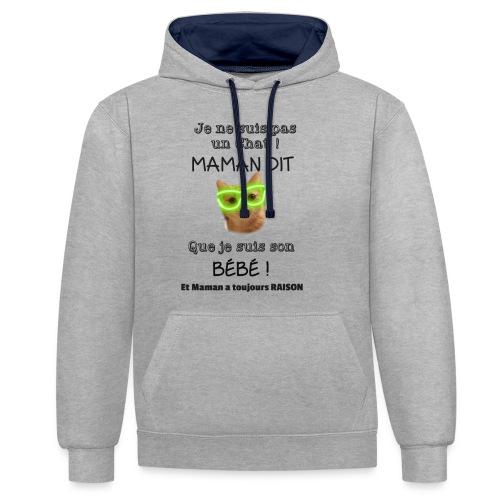 O'Malley le Bébé ! - Sweat-shirt contraste