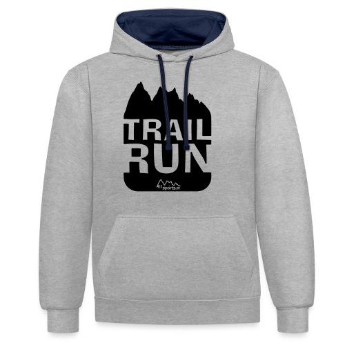 Trail Run - Kontrast-Hoodie