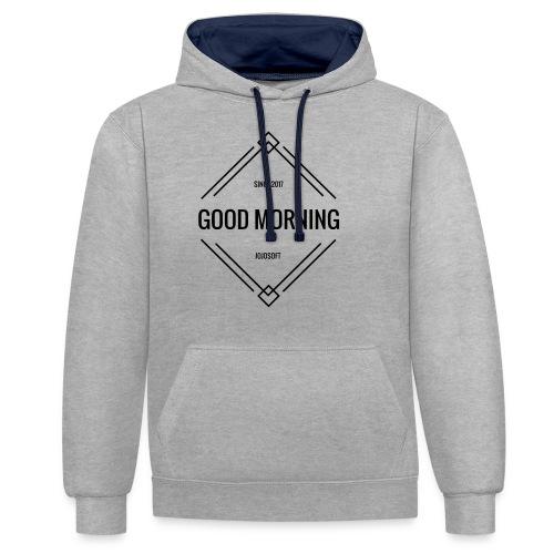 GOOD MORNING - Kontrast-Hoodie