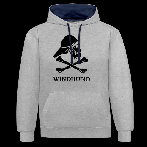 ~ Windhund ~ - Kontrast-Hoodie