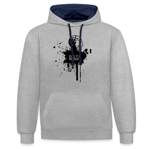 DGTL MNDST - Tour-Shirt 2018 mit schwarzem Print - Kontrast-Hoodie