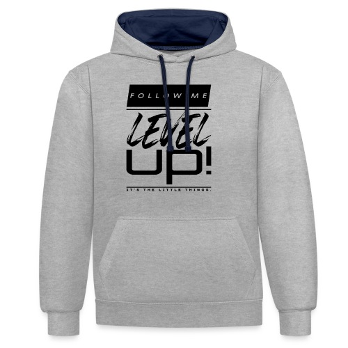 Level Up! Shirt Auto Tuning - Kontrast-Hoodie