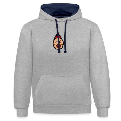 mask head - Contrast hoodie