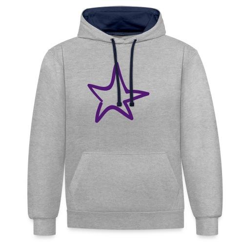 Star Outline Pixellamb - Kontrast-Hoodie