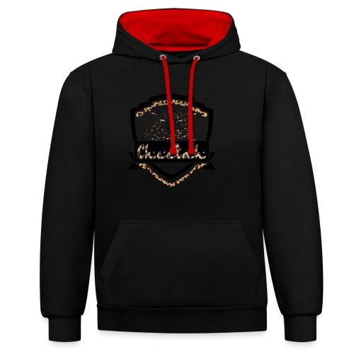 Cheetah Shield - Contrast Colour Hoodie