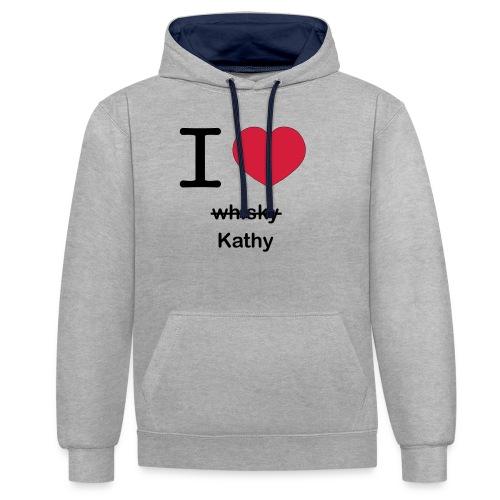 ilovekathy - Contrast hoodie
