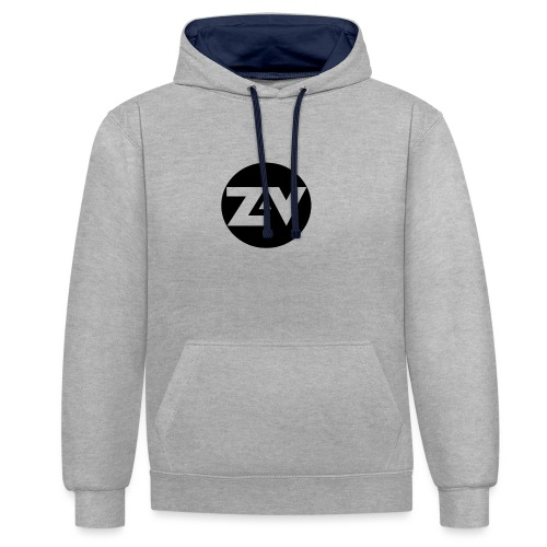 Zvooka Records Logo - Contrast Colour Hoodie