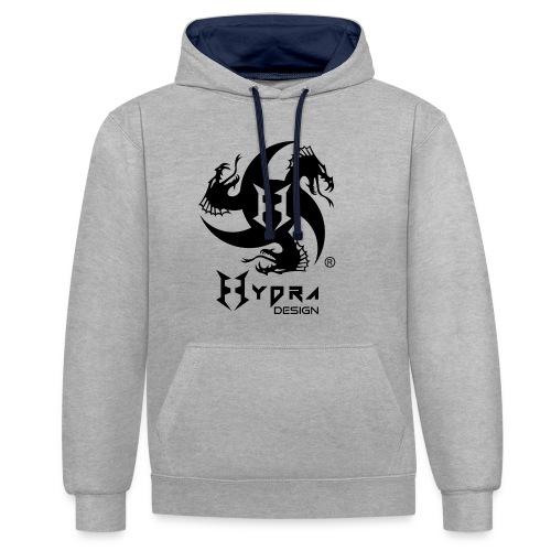 Hydra DESIGN - logo blk - Contrast Colour Hoodie