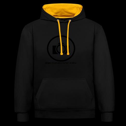 sort2 png - Kontrast-hættetrøje