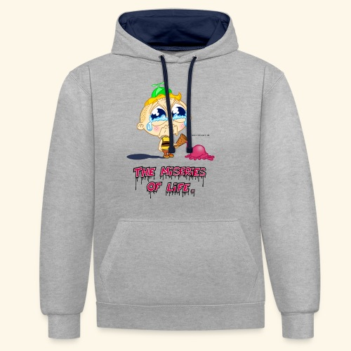 The Miseries of Life Eiscreme Eis Kind - Kontrast-Hoodie