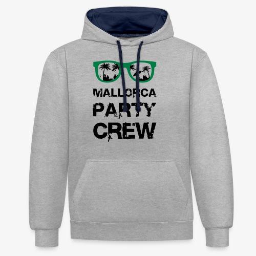 Mallorca Party Crew - Kontrast-Hoodie