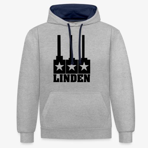 Linden-Logo - Kontrast-Hoodie