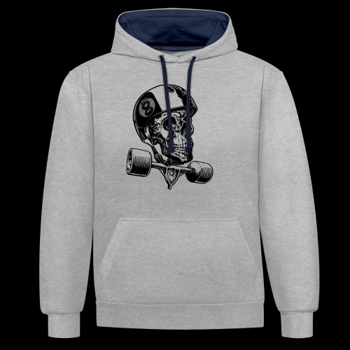 Skull Longboard Rider - positive print - Sweat-shirt contraste