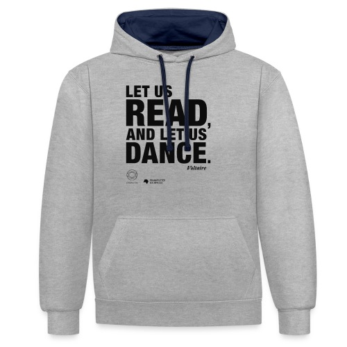 LET US READ | Bookish Merch - Kontrast-Hoodie