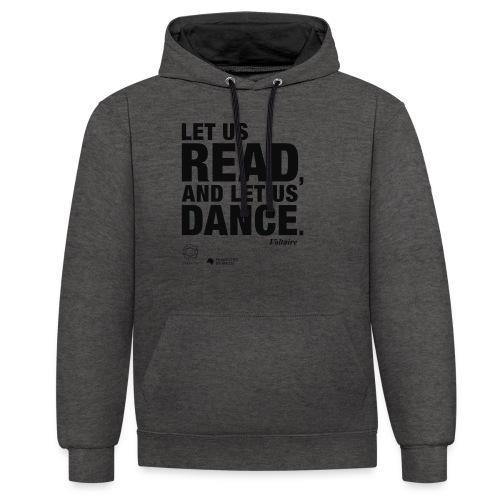 LET US READ | Bookish Merch - Kontrast-Hoodie