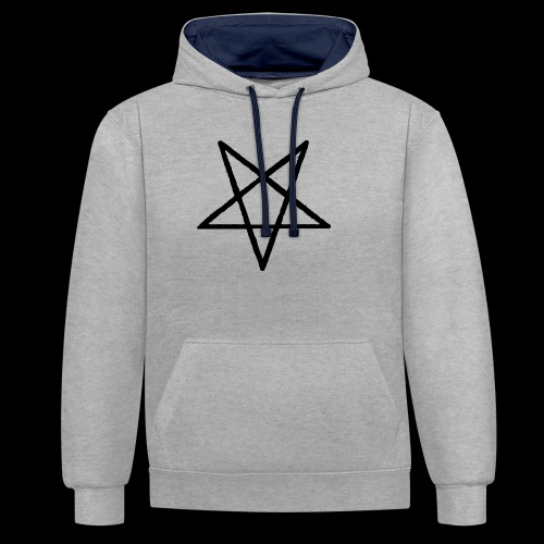 Pentagram2 png - Kontrast-Hoodie