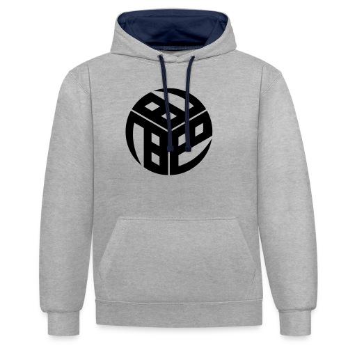 Mitsudomoe Symbol (stylisiert) - Kontrast-Hoodie