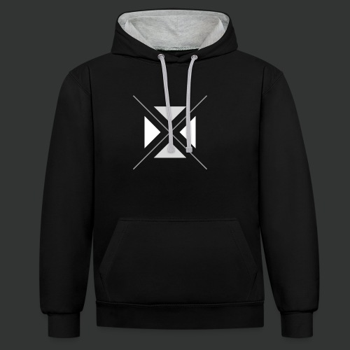 hipster triangles - Contrast Colour Hoodie