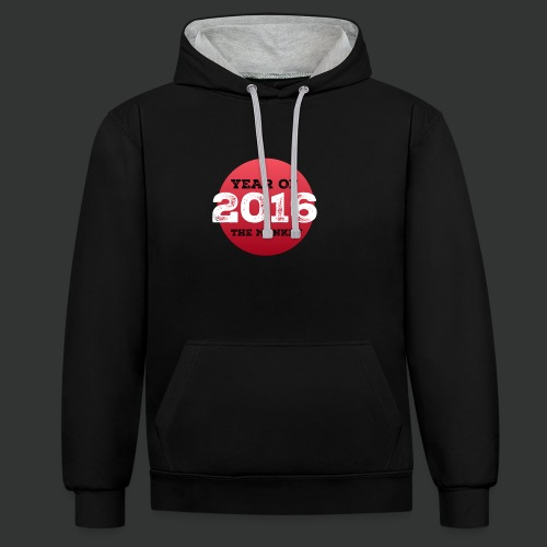 2016 year of the monkey - Contrast Colour Hoodie